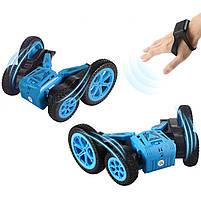 Детская трюковая машинка YDJIA D850 Blue вездеход-перевертыш с дистанционным управлением, фото 4