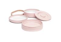 """Набір комбінованих тарілок """"Hygge:Затишні історії""""/рожевий, фото 1"""