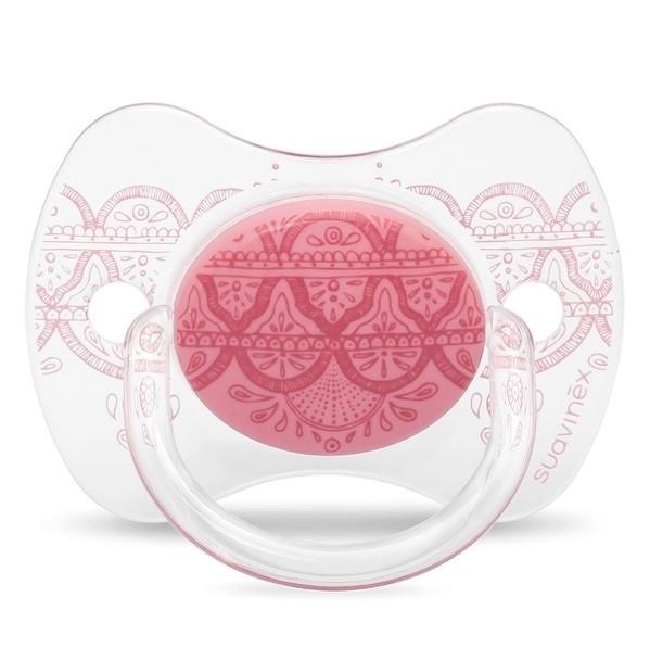 """Пустушка фізіологічна, 0-4 місяців, """"Couture""""/рожева"""
