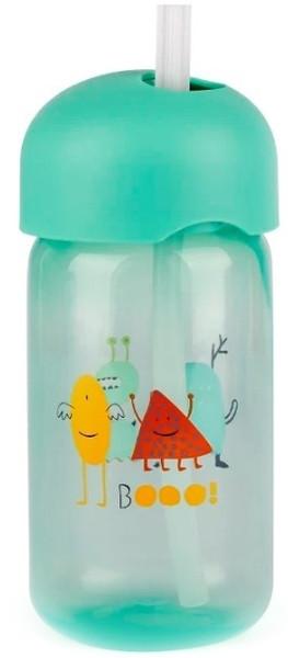 """Пляшка із трубочкою, """"Історії маленьких монстрів""""/зелена"""