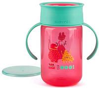 """Пляшка-непроливайка 360, """"Історії маленьких монстрів""""/рожева"""