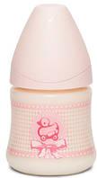 """Пляшечка, 150 мл, анатомічна соска повільний потік, """"Історії малюків""""/рожеве каченя"""