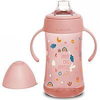 """Чашка з силіконовим носиком, 270 мл,+4 місяці, """"Лісові історії""""/рожева"""
