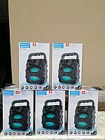 Колонка, бумбокс KTX-1057 Bluetooth, USB, SD, радіо, акумулятор світломузика, фото 1