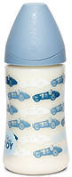 """Пляшечка, 270 мл, анатомічна соска середній потік, """"Історії малюків""""/блакитна"""