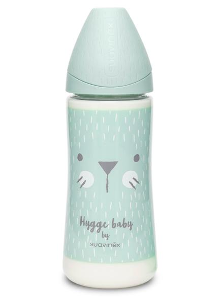 """Пляшечка, 360 мл, кругла соска швидкий потік, """"Hygge:Затишні історії""""/бірюзова"""