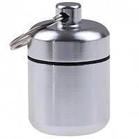 Брелок-футляр Silenta 3.4х2.6 см Серебристый