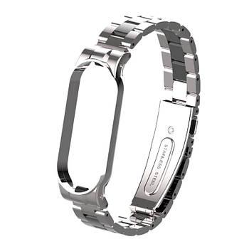 Pемешок для фитнес-браслета Xiaomi Mi Band 5 и 6 Bead design, Silver