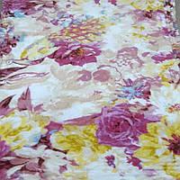 Плед покрывало бамбуковое волокно ЛИША 180 х 200 (29334) Поле Цветов разноцветные