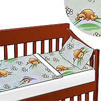 Комплект постельного белья детский ТМ Беби-Текс Мишка в постели (18447) Салатовый