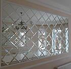 Зеркальное панно 2335х1275 серебро фацет 10 мм (плитка 150  мм), фото 4