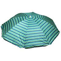 """Зонт пляжний STENSON 2.4 м (0042) Без напилення (""""Пальми"""")"""