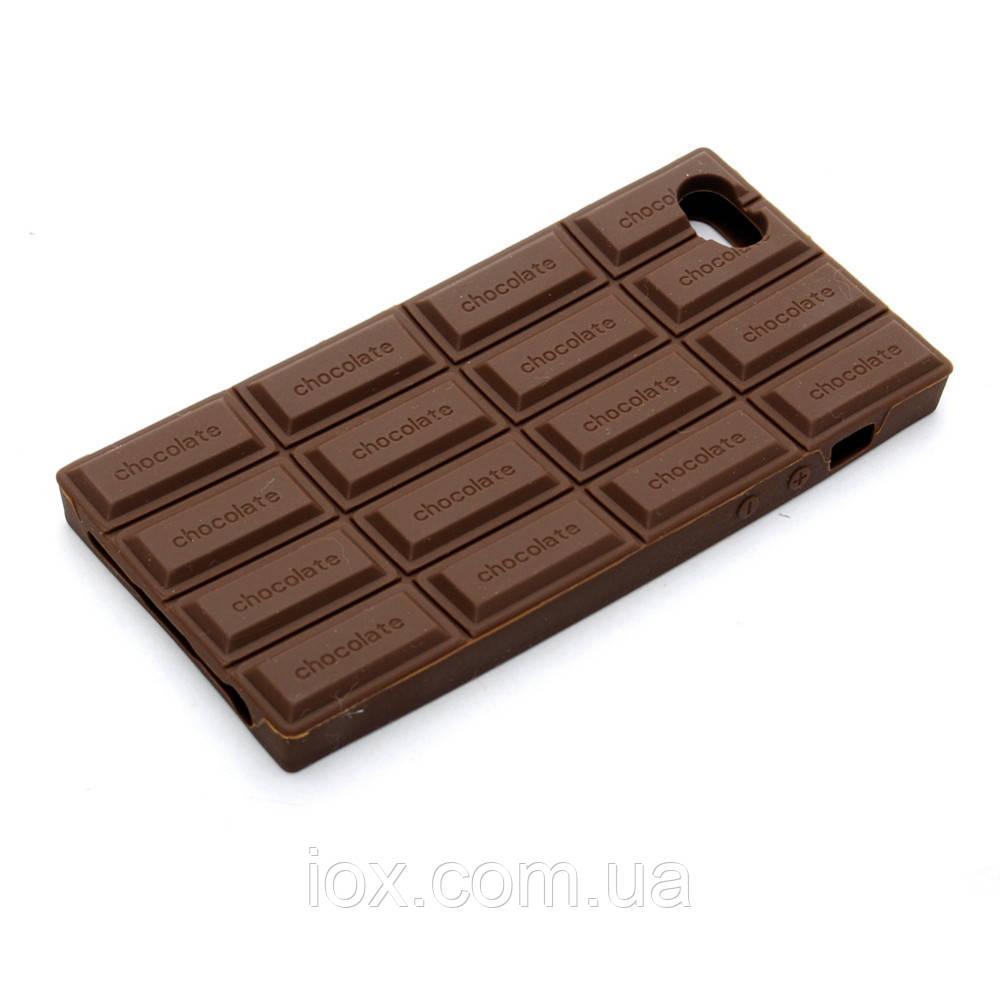Силиконовая коричневая ароматная шоколадка для Iphone 5/5S