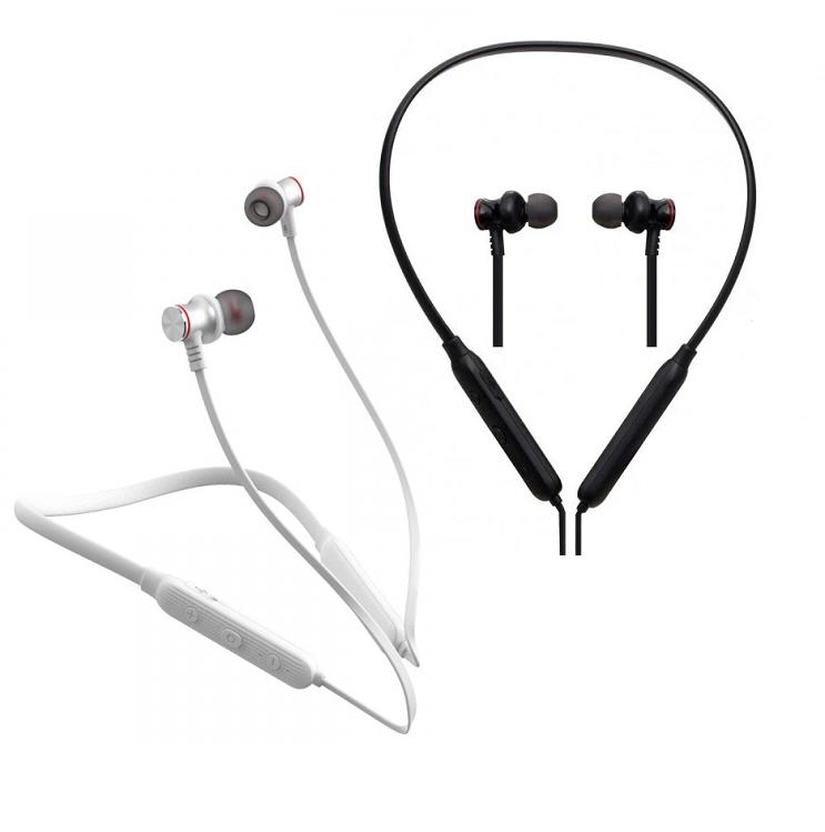 Беспроводные Bluetooth наушники Proda Sports PD-BN100 вакуумные спортивные, стерео гарнитура, белые / черные