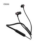 Беспроводные Bluetooth наушники Proda Sports PD-BN100 вакуумные спортивные, стерео гарнитура, белые / черные, фото 3
