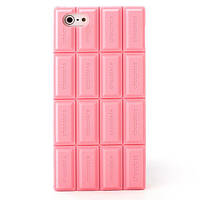 Силіконова рожева шоколадка для Iphone 5/5S, фото 1