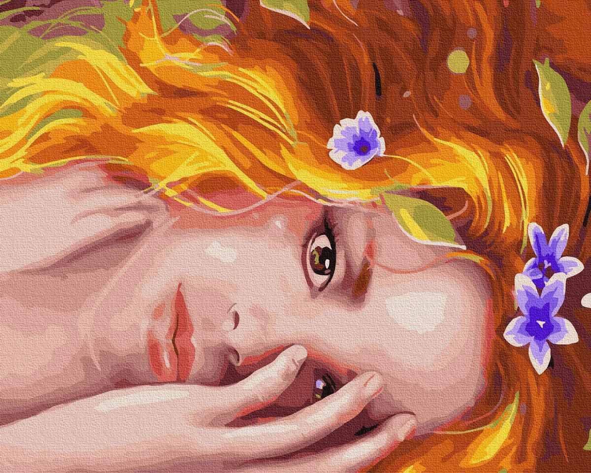 Картина рисование по номерам Brushme Златовласка GX34203 40х50см       40x50см  BK-GX34203 40x50см набор для