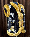 Безрукавка на меху с опушкой 38, фото 3