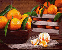 Картина рисование по номерам Brushme Мандаринки     BK-GX32868 набор для росписи, краски, кисти, холст