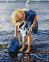 Картина рисование по номерам Brushme Помічниця     BK-GX22016 набор для росписи, краски, кисти, холст