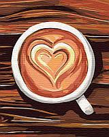 Картина рисование по номерам Brushme Любовь в чашке 40х50см рисование роспись по номерам, кисти, краски, холст