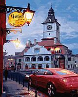 Картина рисование по номерам Brushme Вечер провинциального городка     BK-GX30888 набор для росписи, краски,