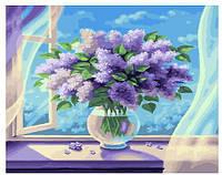 Картина рисование по номерам Brushme Букет из сирени 40х50см рисование роспись по номерам, кисти, краски,