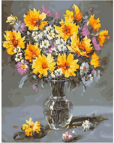 Картина рисование по номерам Brushme Лофт натюрморт 40х50см рисование роспись по номерам, кисти, краски, холст