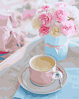 Картина рисование по номерам Brushme Утренняя нежность 40х50см рисование роспись по номерам, кисти, краски,