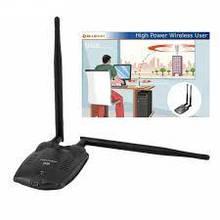 Kebidu, 300 Мбит/с, USB Wi-Fi адаптер,  сетевая карта RTL8192FU, высокая мощность, 3000 МВт, двойная антенна.