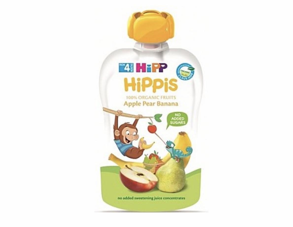 Пюре фруктове органік Яблуко-груша-банан HiPP (Хіпп) 100 гр з 4 місяців