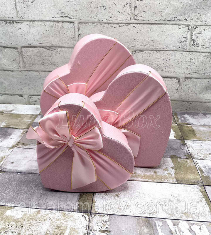 Набор подарочных коробок -розовый
