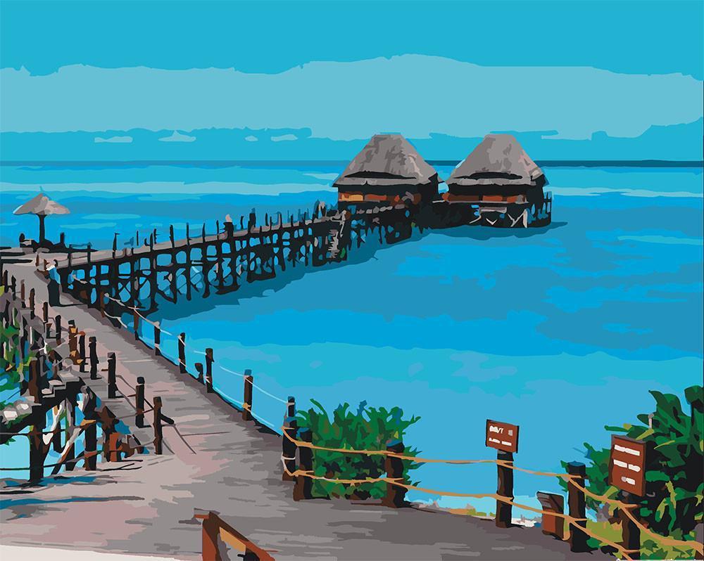 Картина рисование по номерам Идейка Горное озеро 40х50см КНО2223 набор для росписи, краски, кисти, холст