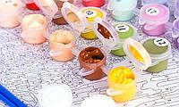 Картина рисование по номерам Идейка Маки на окошке 40х50см КНО2098 набор для росписи, краски, кисти, холст