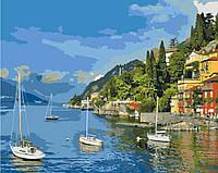 Картина рисование по номерам Идейка Прибрежный отдых 40х50см КНО2164 набор для росписи, краски, кисти, холст