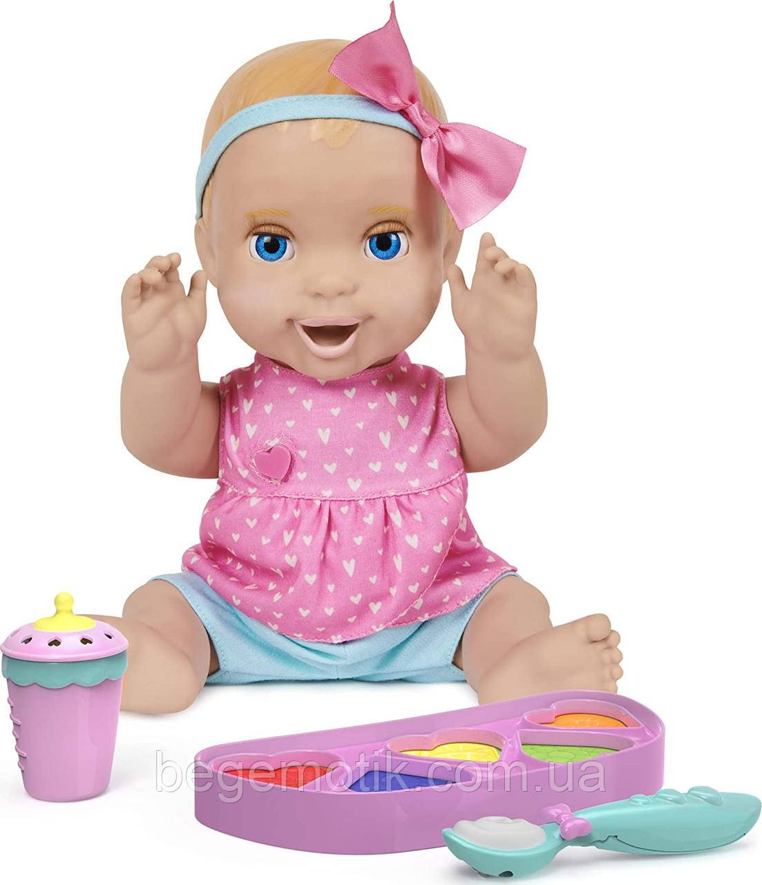 Интерактивная кукла Лувабелла Мия Блондинка Luvabella Mealtime Magic Mia оригинал от SpinMaster