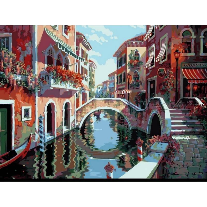 Картина рисование по номерам Babylon Полдень в Венеции. Худ. Боб Пейман 40х50см VP264 набор для росписи,