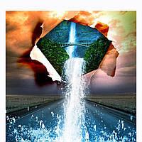 Алмазная вышивка мозаика Diy Соединение миров 30х30см 30цветов полная зашивка квадратные стразы. Набор