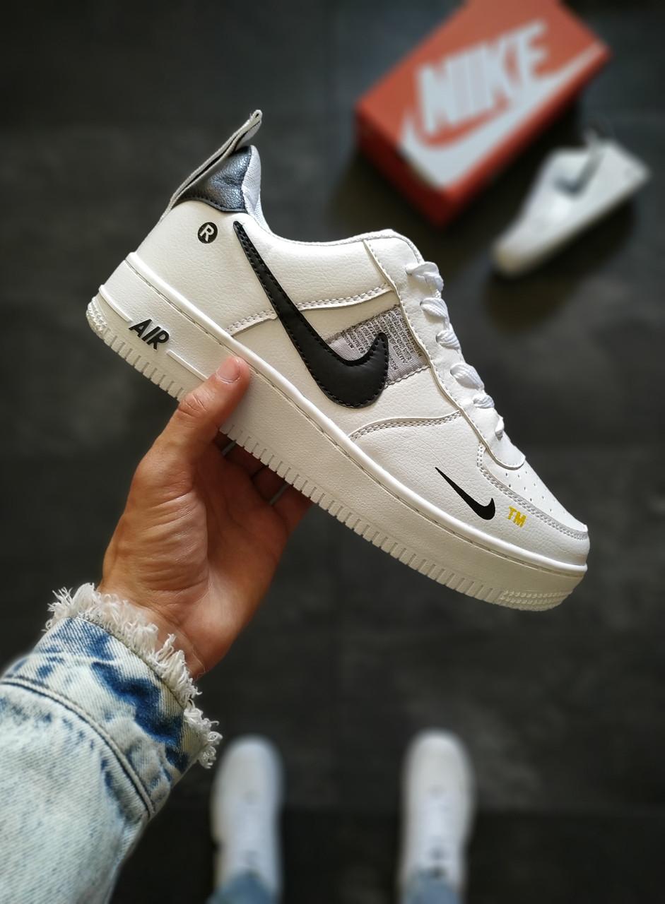 Мужские кроссовки Nike Air Force белые 43 размер