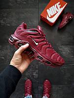 Мужские кроссовки Nike Air Max Plus TN Бордовые, фото 1