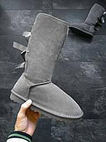 Женские угги UGG Bailey bow tall II boot зимние Высокие, фото 1
