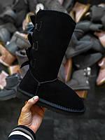 Женские угги UGG Bailey bow (смехом) черные, фото 1