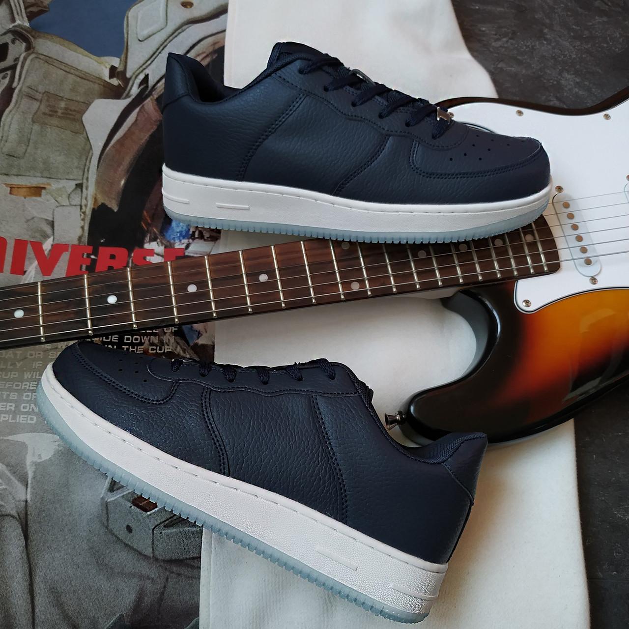 Кроссовки с стиле Nike Air Force 1 Синие