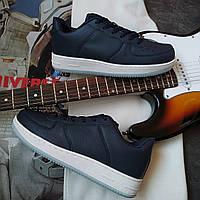 Кроссовки с стиле Nike Air Force 1 Синие, фото 1