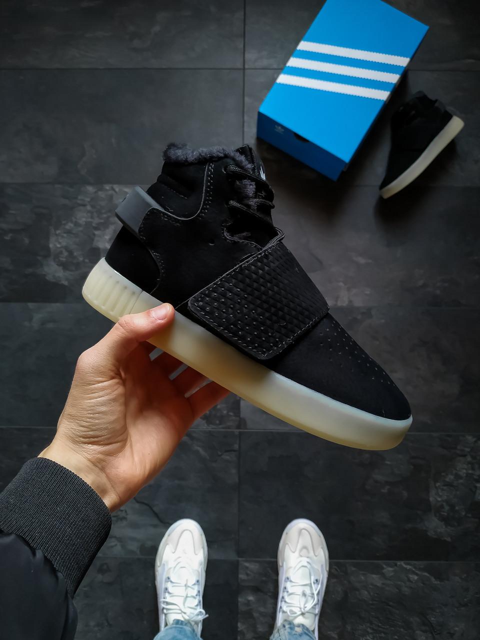 Женские зимние кроссовки Adidas Tubular Inv Черные 36 размер