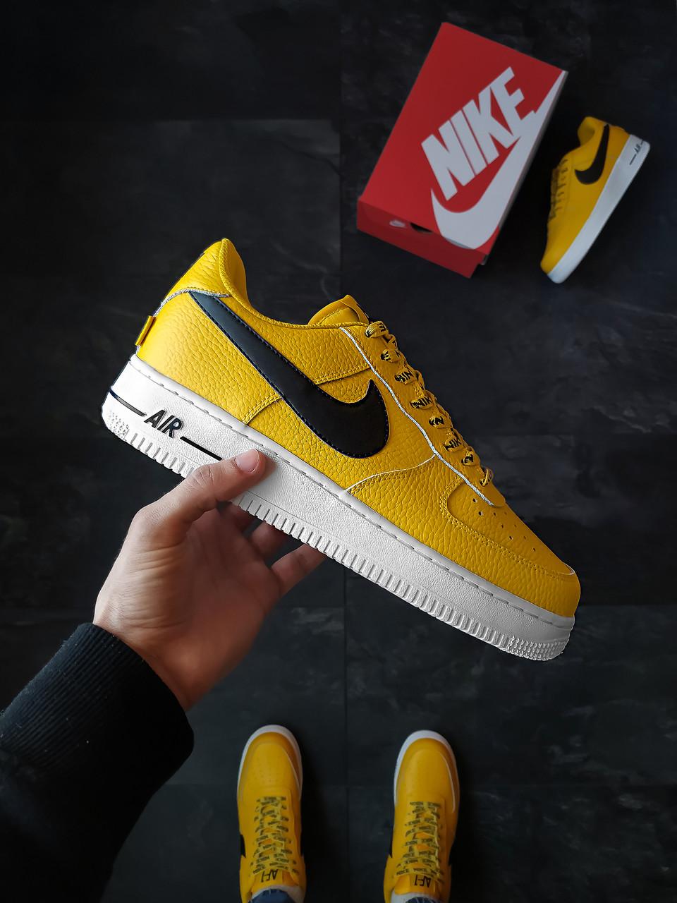 Мужские кроссовки  Nike Air Force 1 Желтые
