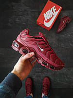 Nike Air Max Plus TN  мужские Бордовые, фото 1