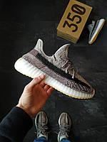 Мужские кроссовки Adidas Yeezy Boost 350 v2 мужские Серые, фото 1