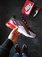 Мужские кроссовки Nike Air 270 мужские черно-красные, фото 1