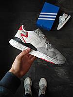 Мужские кроссовки Adidas Nite Jogger серые рефлективные, фото 1